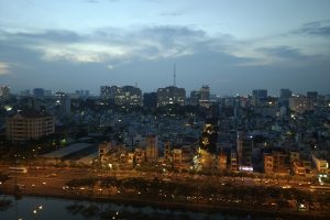 Nightscape of Ho Chi Minh City