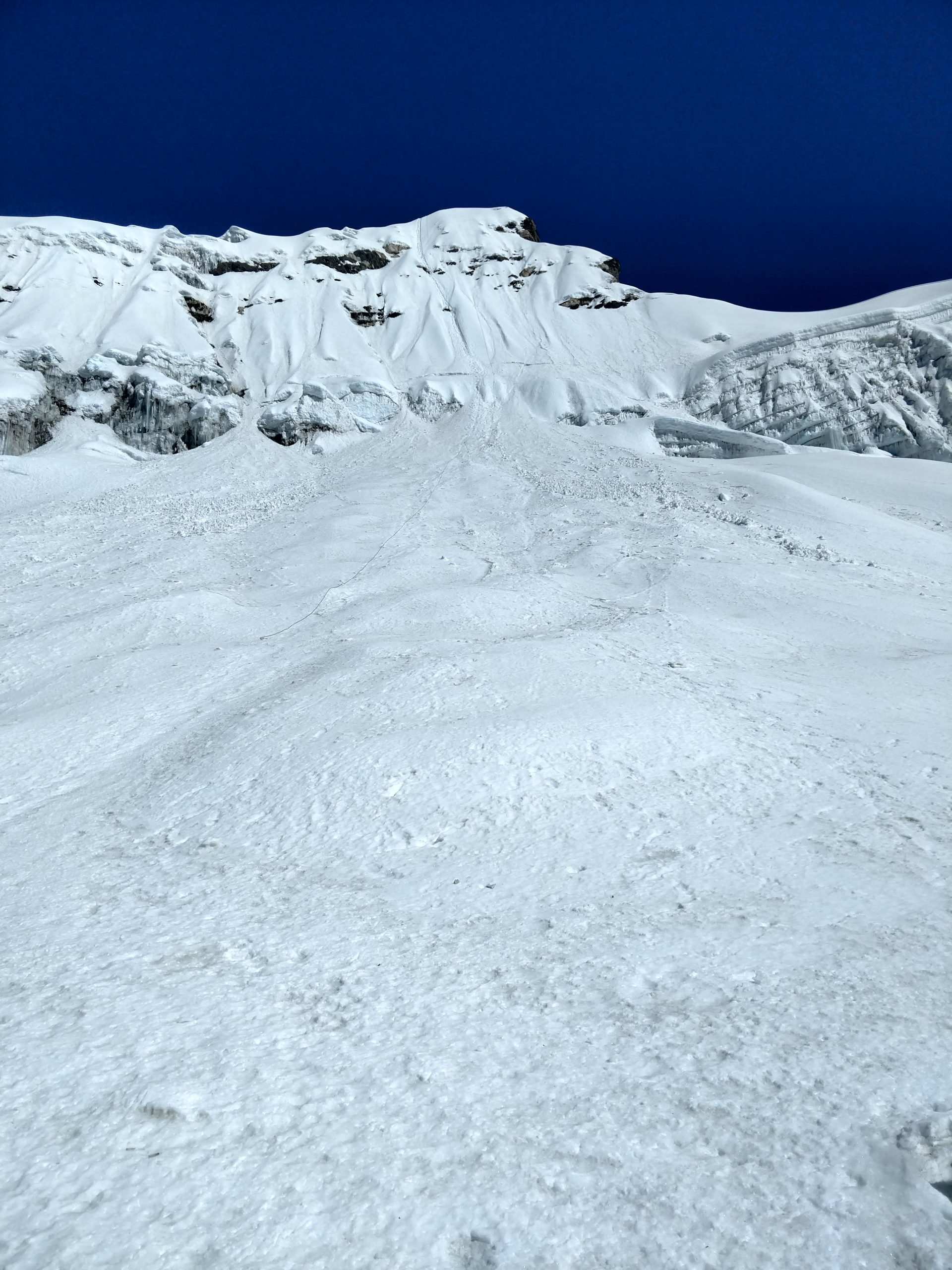 View of the Imja Tse Ice Wall